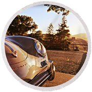 Porsche Sundown Round Beach Towel