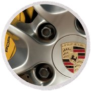Porsche Wheel Detail #2 Round Beach Towel