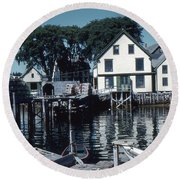 Port Clyde Maine Round Beach Towel