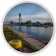Port Colborne Round Beach Towel