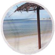 Port Gentil Gabon Africa Round Beach Towel