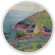 Port Manech Round Beach Towel