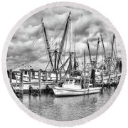 Port Royal Docks Round Beach Towel