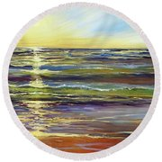 Port Sheldon Round Beach Towel