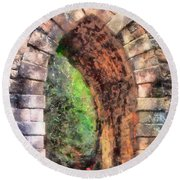 Portal Into Summertime Round Beach Towel