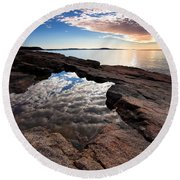 Portal To The Heavens Round Beach Towel
