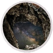 Portal To The Universe Round Beach Towel