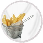 Portion Of Chips Round Beach Towel