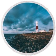 Portland Bill Dorset Round Beach Towel