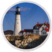 Portland Head Light No. 43 Round Beach Towel
