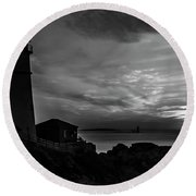 Portland Head Noir Round Beach Towel