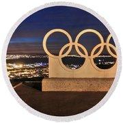 Portland Olympic Rings Round Beach Towel