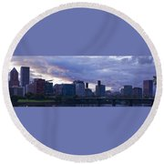 Portland Oregon Panorama Round Beach Towel by Jonathan Davison