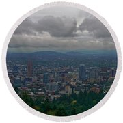 Portland Overlook Round Beach Towel by Jonathan Davison