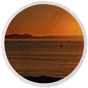 Portland Sunrise Round Beach Towel by Stephen Melia