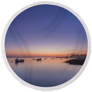 Porto Sunset 2 Round Beach Towel