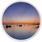 Porto Sunset Round Beach Towel