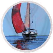Portobello Belle Round Beach Towel