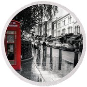 Portobello Road London Round Beach Towel by Lynn Bolt