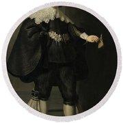 Portrait De Marten Soolmans, 1634 Round Beach Towel
