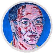 Portrait Dr. R. Meiritz Round Beach Towel