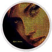 Round Beach Towel featuring the digital art Portrait In Mesh by Rafael Salazar