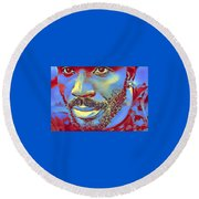 Portrait Of A Man Of Color Round Beach Towel