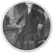 Portrait Of Alexander Hamilton Round Beach Towel