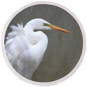 Portrait Of An Egret Rectangle Round Beach Towel