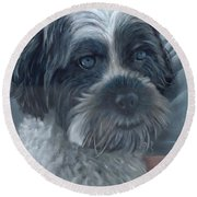 Portrait Of Charley Round Beach Towel
