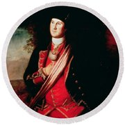 Portrait Of George Washington Round Beach Towel