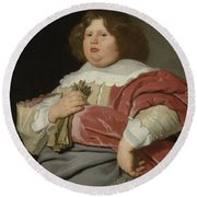 Portrait Of Gerard Andriesz Bicker, 1642 Round Beach Towel