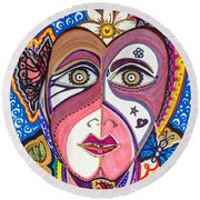 Portrait Of Hope Round Beach Towel