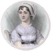Portrait Of Jane Austen Round Beach Towel