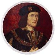 Portrait Of King Richard IIi Round Beach Towel