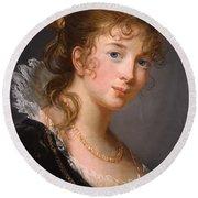 Portrait Of Louisa Princess Radziwill  Round Beach Towel