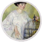 Portrait Of Madame Frieseke Round Beach Towel