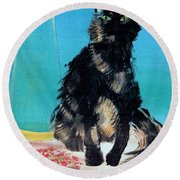 Portrait Of Muffin Round Beach Towel