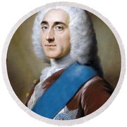 Portrait Of Philip Stanhope 4 Earl Of Chesterfield Round Beach Towel