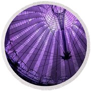 Portrait Of Purple Cosmic Berlin Round Beach Towel