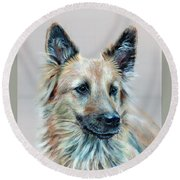 Portrait Of Sasha Round Beach Towel