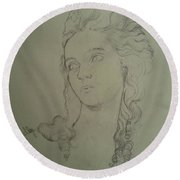 Portrait Of Elisabeth Vigee Le Brun Round Beach Towel
