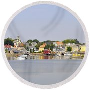 Portsmouth Nh South End Psep Round Beach Towel