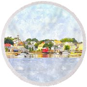 Portsmouth Nh South End Psewc Round Beach Towel