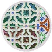 Portuguese Handmade Tile Round Beach Towel