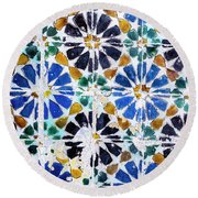 Portuguese Tiles Round Beach Towel by Marion McCristall