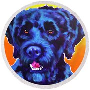 Portuguese Water Dog - Banks Round Beach Towel