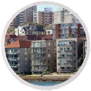 Round Beach Towel featuring the photograph Posh Burbs by Stephen Mitchell
