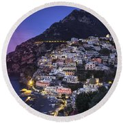 Positano Twilight Round Beach Towel