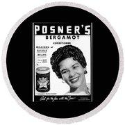 Posner's Bergamont Round Beach Towel